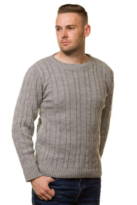 thick cable knit sweater new s chunky cable knit pullover jumper thick warm