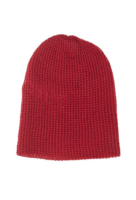 knitting beanie forever 21 slouchy waffle knit beanie in lyst