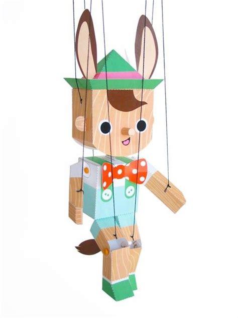 paper crafts pdf pinocchio marionette puppet printable paper craft pdf