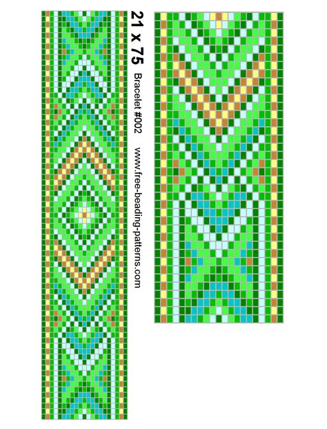 beading patterns free loom patterns for beaded bracelets on a loom images