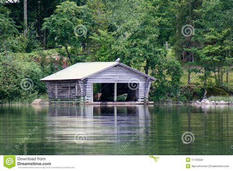 Cottage Home Plans old boathouse by the lake stock photo image 11723020