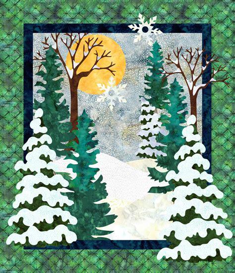 landscape quilt patterns snow day winter landscape quilt pattern instant