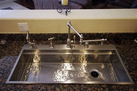 hammered stainless steel signature series sink by rachiele