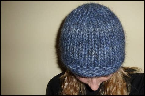hats knitted on needles free hat knitting pattern chunky beanie size 15 30cm