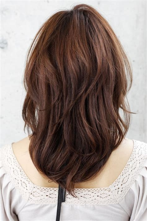 pictures of the back of shoulder lenth hair bridesmaid hairstyle medium length best hair style
