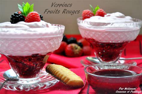 verrines folie de fruits rouges couscous et puddings