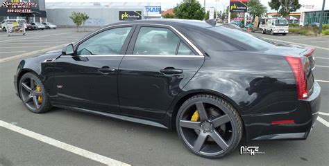 2004 Cadillac Cts Tire Size by Cadillac Cts Niche Milan M134 Wheels Black Machined