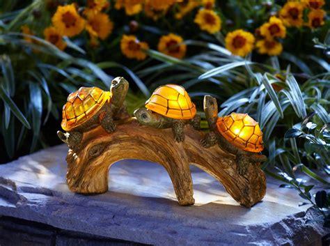 moonray solar lights moonrays 91515 turtles on a log solar powered outdoor led