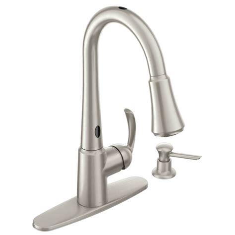 Motionsense Kitchen Faucet shop moen delaney with motionsense spot resist stainless 1