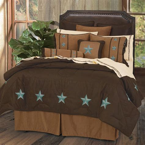 turquoise brown comforter sets turquoise laredo bedding sets cabin place