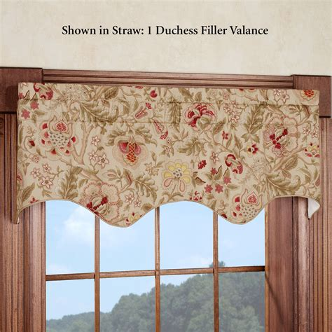 waverly kitchen curtains regency floral duchess filler valance by waverly