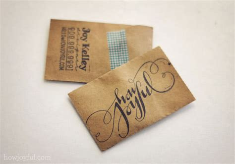 craft paper cards handmade business card designs