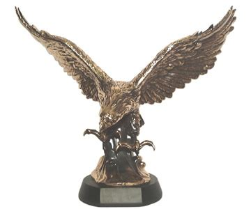 eagle on wave large scale sculpture