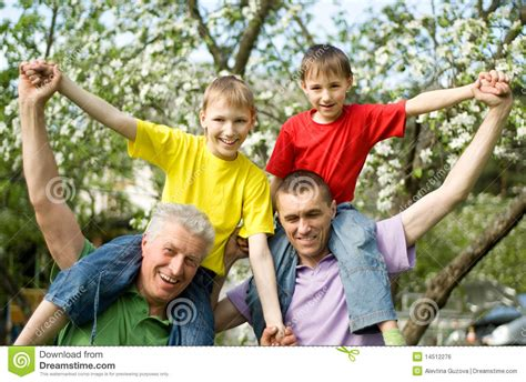 family play family to play outdoors royalty free stock image