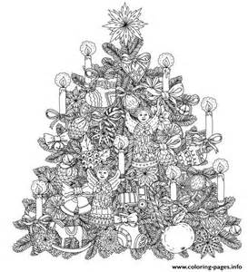 tree ornament coloring pages tree with ornaments by mashabr coloring