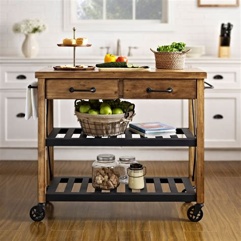 kitchen island cart roots rack industrial kitchen cart crosley furniture serving utility carts