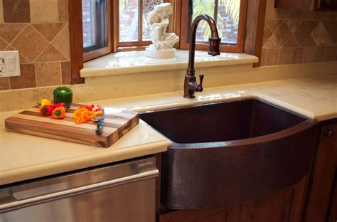 kitchen with copper sink when and how to add a copper farmhouse sink to a kitchen