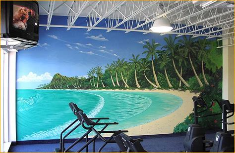Murals On Wall gym mural