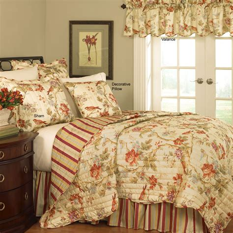 waverly comforters sets charleston chirp quilt set by waverly bedding