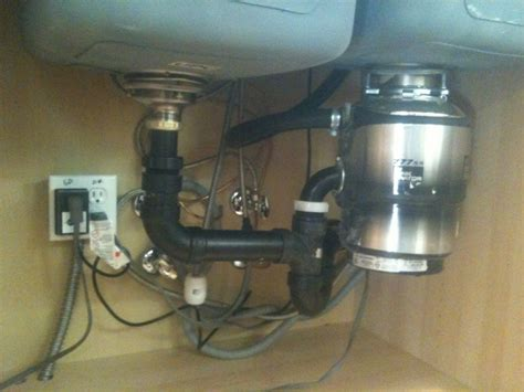 kitchen sink drainage problems garbage disposals distance from sink to outlet pipe