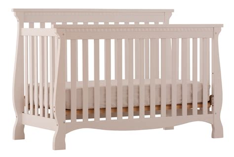 stork craft baby crib venetian white 4 in 1 fixed side convertible crib at gowfb