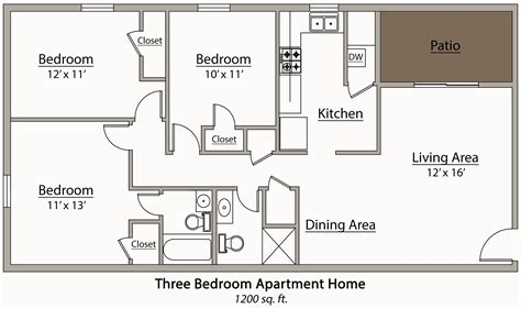 3 bedroom plan 3 bedroom apartment floor plans thraam