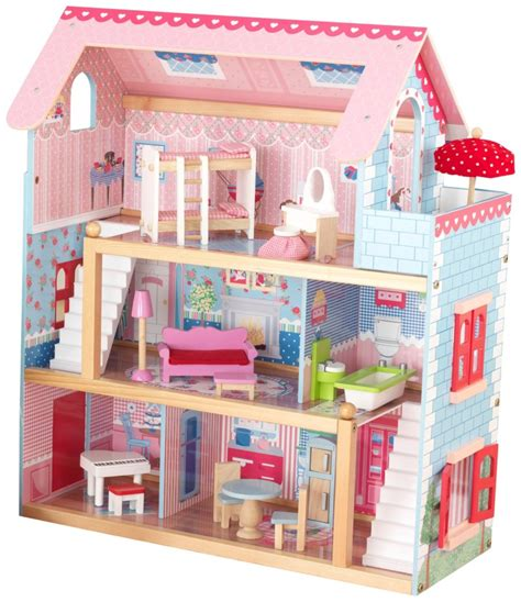 kid craft doll house kidkraft chelsea doll cottage with furniture at best price