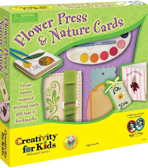 card kits for children creativity for flower press nature cards kit at