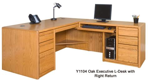 oak office desk choose from matching pieces furnish your entire office