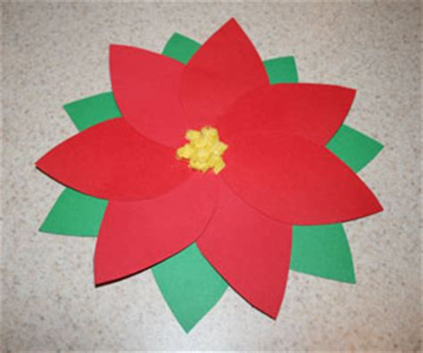 poinsettia craft project paper poinsettia craft