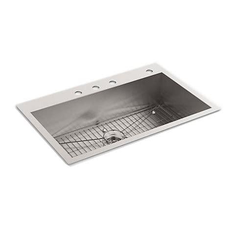 4 kitchen sink faucet kohler k 3821 4 vault large single kitchen sink with four