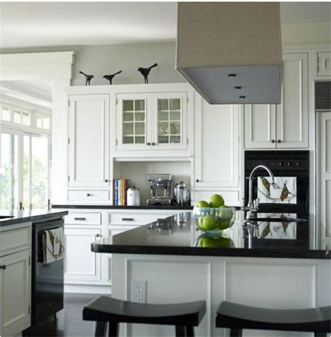 kitchen paint colors with white cabinets and black granite black and white kitchen interior design ideas