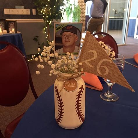 25 great ideas about baseball centerpiece on