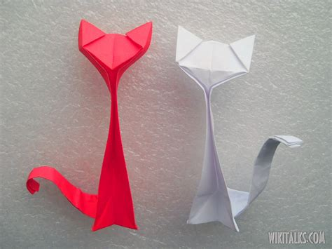 origami cat how to make an origami cat out of paper wiki talks
