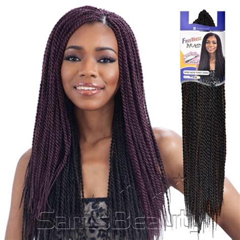 senegalese twist hair brand freetress synthetic hair crochet braids senegalese twist