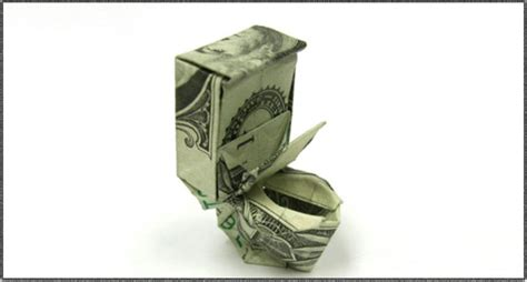 money origami toilet toilet made out of money