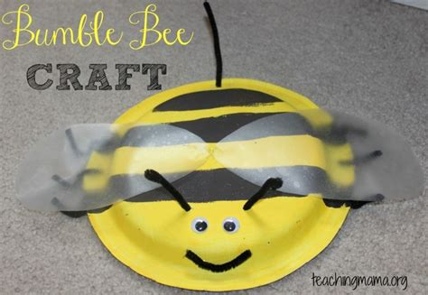 bumble bee paper plate craft bumble bee craft