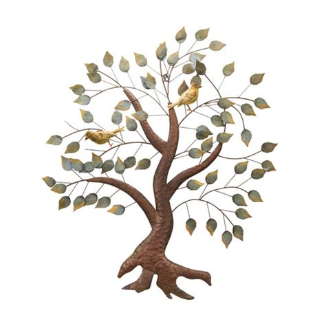 wrought iron trees bayaccents wrought iron tree and birds wall d 233 cor