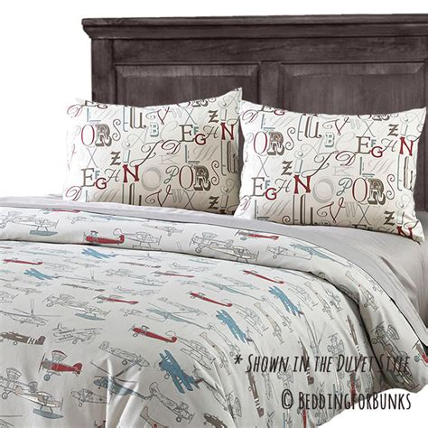 airplane bedding jacob vintage airplane fitted bunk bed comforter