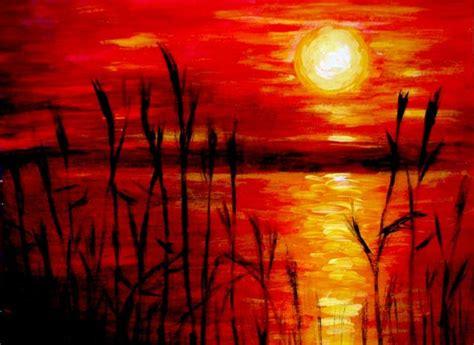 acrylic paint artist pad sunset acrylic painting by belka10 on deviantart