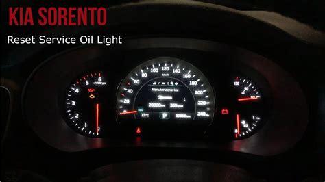 kia sorento reset service light