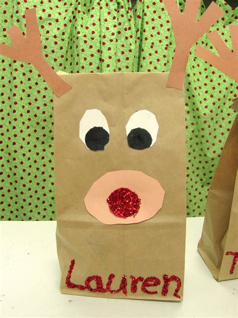 paper bag reindeer craft lil country librarian rudolph craft writing prompt