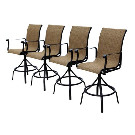 allen roth patio chairs shop allen roth safford brown aluminum patio barstool