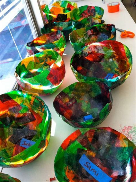 paper bowl crafts crafts made from tissue paper
