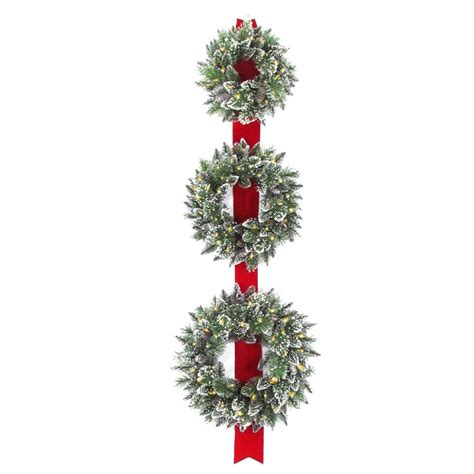 company to hang lights national tree company glittery bristle 77 in