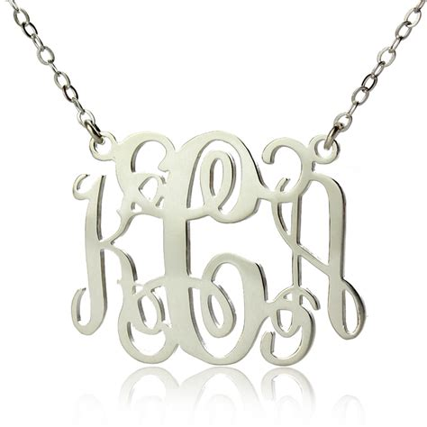 how to make monogram jewelry bellino style personalized monogram necklace silver