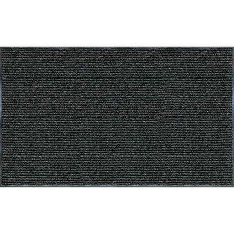 mats rugs trafficmaster enviroback charcoal 60 in x 36 in recycled