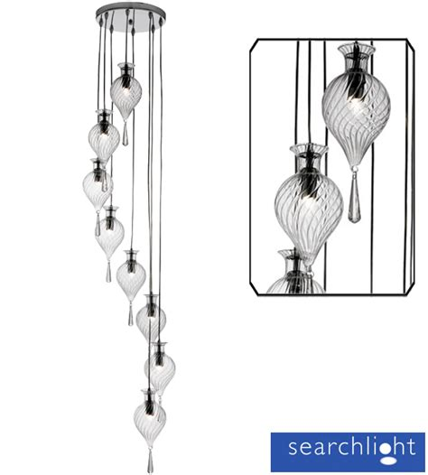 multi pendant ceiling light searchlight twirls 8 light multi drop ceiling pendant