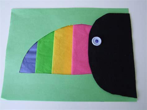 toucan craft for toucan animal craft for kindergarten rainforest