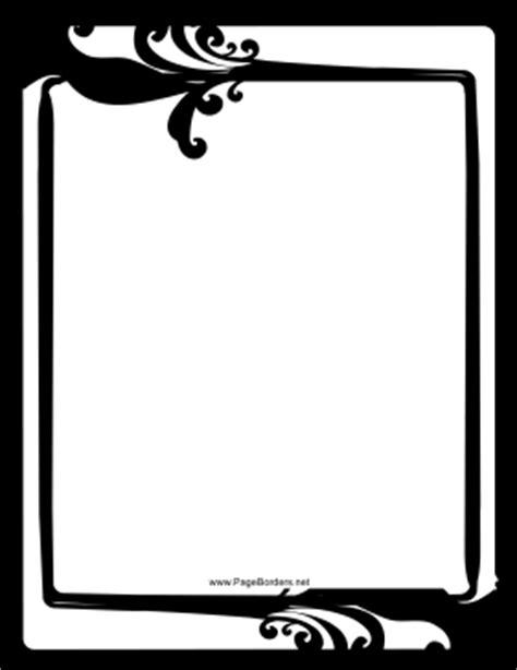 fancy black and white border